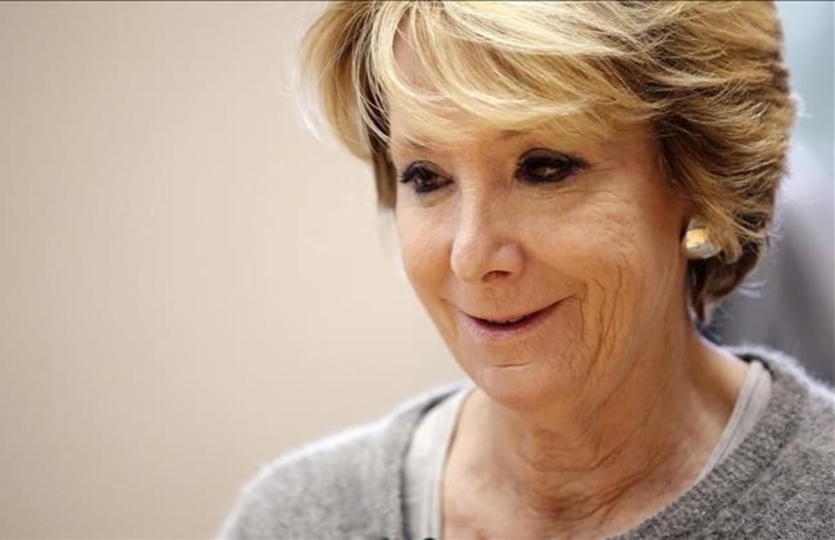 La expresidenta de la Comunidad de Madrid Esperanza Aguirre.