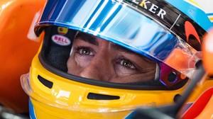Fernando Alonso, en los entrenamientos de hoy en Austria.