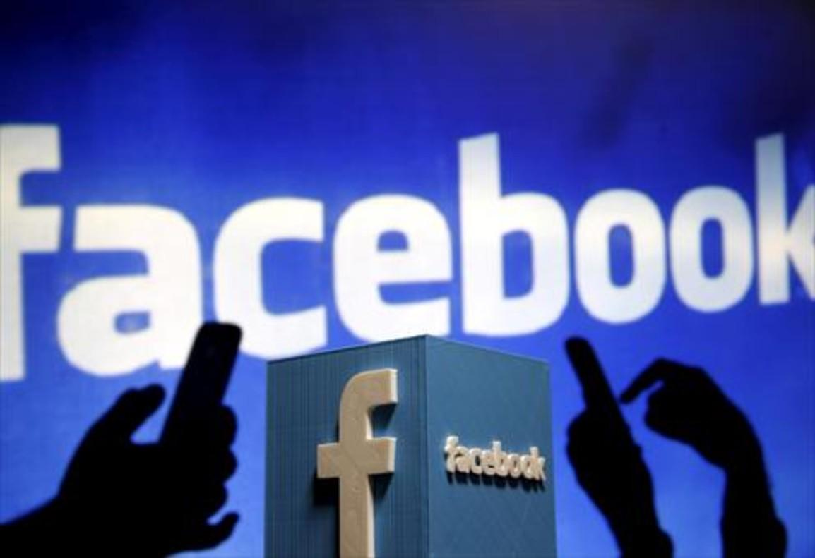 <br/>Una representación <br/>del logo de Facebook.