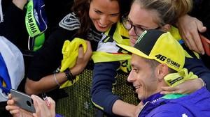 Valentino Rossi ha vuelto a ser protagonista, como siempre, de la previa del GP de Valencia.