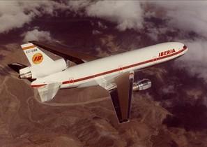Un avión de los años 70 de la aerolínea Iberia.