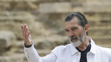 Antonio Banderas, en el festival de Málaga, donde ha recibido la Biznaga de honor.