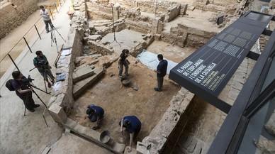 Las excavaciones en el recinto delBorn CCM, este martes.