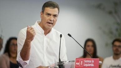La intervenció de Pedro Sánchez en la reunió interparlamentària del PSOE, en directe