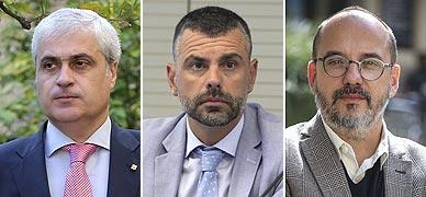 De izquierda a derecha, Gordó, Vila y Campuzano.