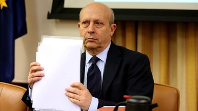 José Ignacio Wert, este martes, durante su comparecencia en la subcomisión del pacto educativo.