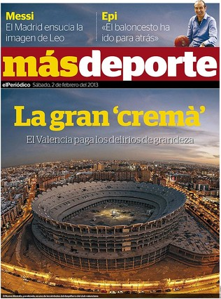 La cat�strofe econ�mica del Valencia, en 'M�s Deporte'