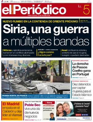 La portada de EL PERI�DICO