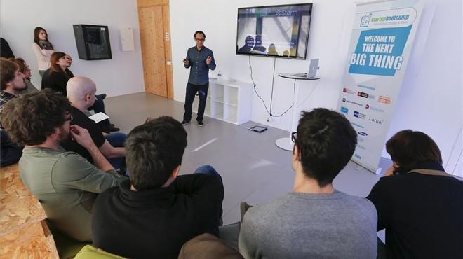 Presentaci�n de una de las start-ups de Startupbootcamp.