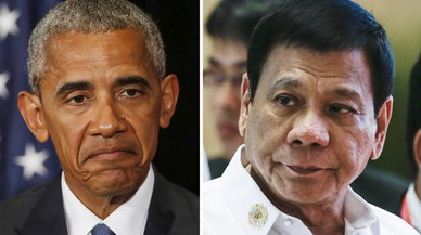 "Duterte diu que no volia insultar Obama quan li va dir ""fill de puta"""