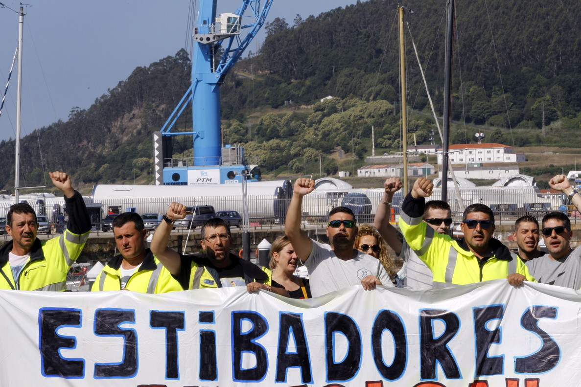 La huelga de estibadores vuelve a afectar la actividad de los puertos