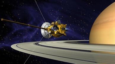 La sonda Cassini, junto a Saturno, en una recreación artística de la NASA.