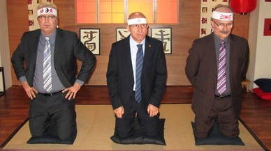 Imagen de uno de los gags incluidos en el especial de 'Pol�nia' sobre los diez a�os del programa de TV-3.