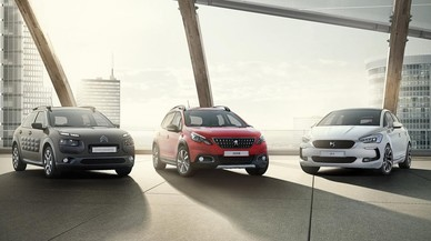 Tres veh�culos del grupo PSA, Citro�n, Peugeot y DS.