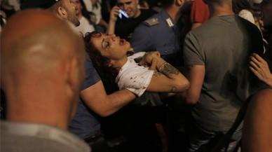 Al menos 400 heridos, cinco graves, en Turín por una estampida