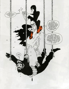 Una imagen del polmico cmic de Frank Miller 'Holy Terror'.