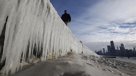 Panorámica de Chicago que estos días está soportando unas temperaturas extremas.