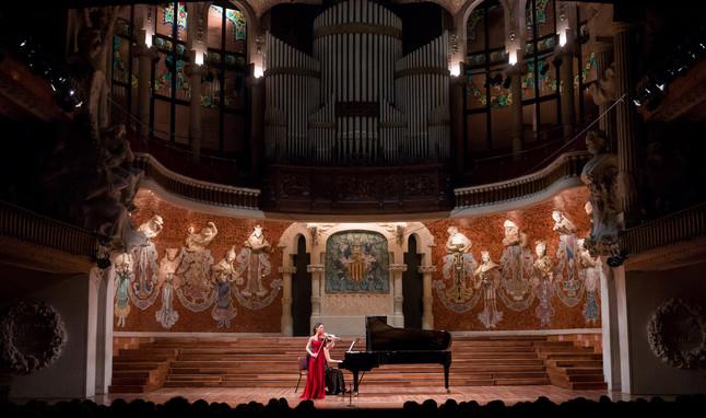 Concierto de Leticia Moreno en el Palau de la Música, el pasado 22 de enero.