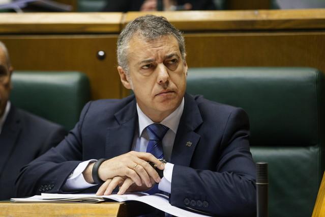 El lendakari Iñigo Urkullu, en el Parlamento vasco.