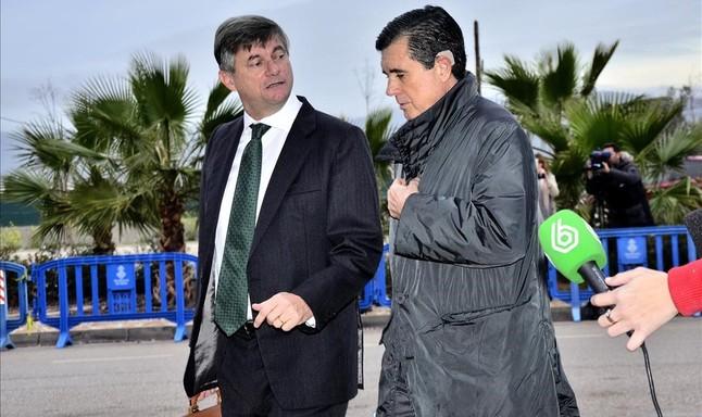 Jaume Matas a su llegada a la cuarta jornada del juicio por el caso Noos