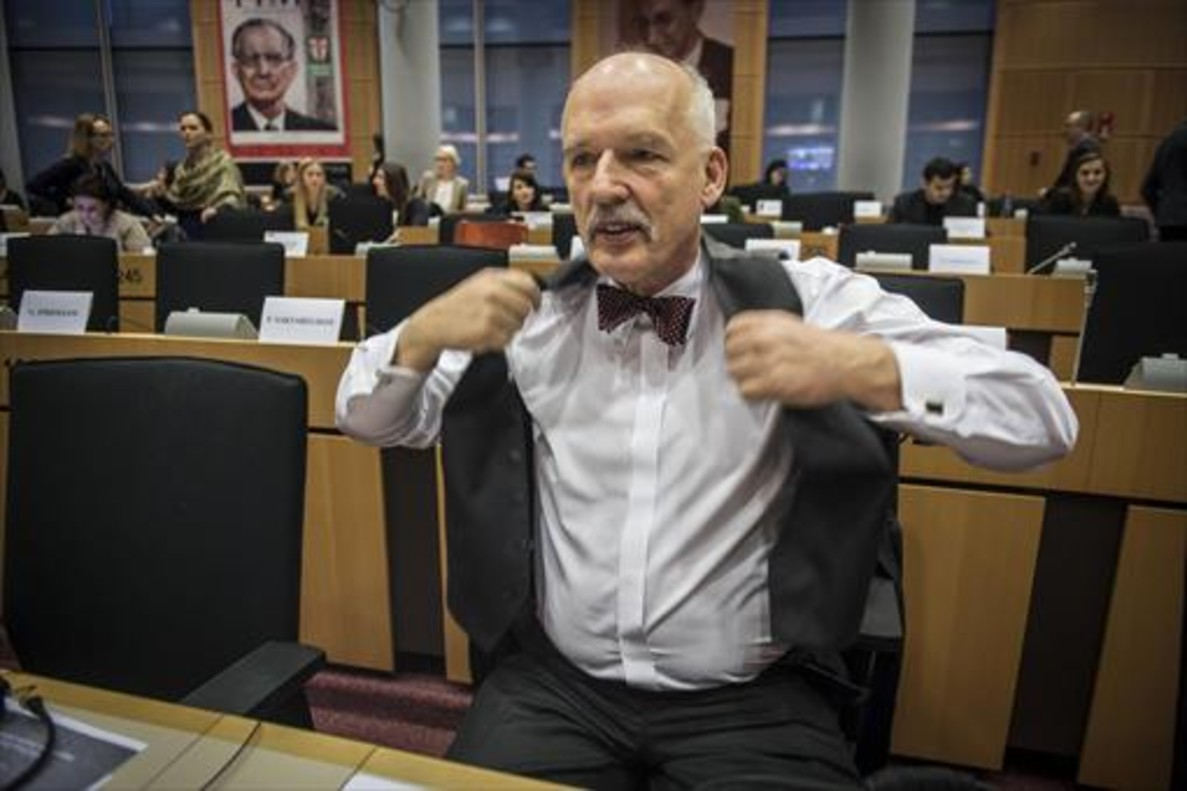 Janusz Korwin-Mikke, en el Parlamento Europeo en enero del 2016,
