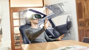 Conducir un coche en realidad virtual.