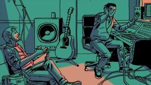 Detalle de la portada de La encrucijada, de Paco Roca y José Manuel Casañ.