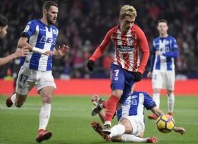 Griezmann, durante el partido del Atlético contra el Alavés del sábado pasado