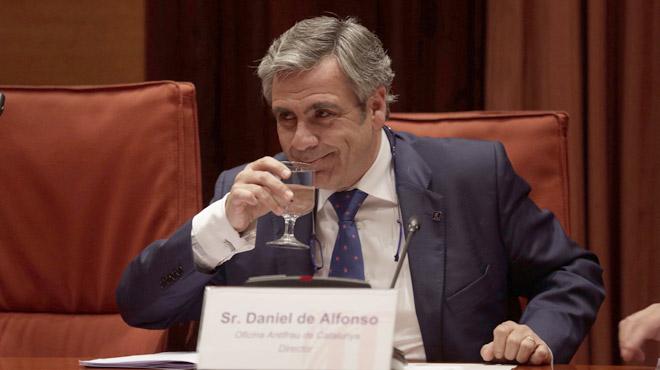 """Compareixença de Daniel de Alfonso al Parlament. El director de l'Oficina Antifrau de Catalunya diu que han""""destrossat"""" la seva intimitat i que és un """"cap de turc"""" electoral."""