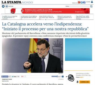 La prensa internacional recoge el choque de trenes entre Catalunya y el Estado