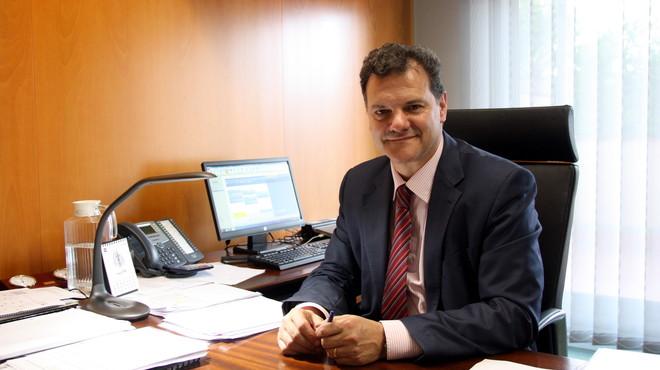 Josep Llu�s Armenter, director general de Mina, empresa que gestiona el servicio del agua en Terrassa.