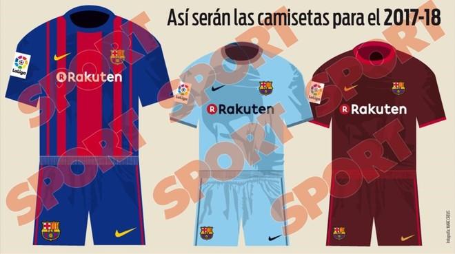 Las camisetas de la próxima temporada.