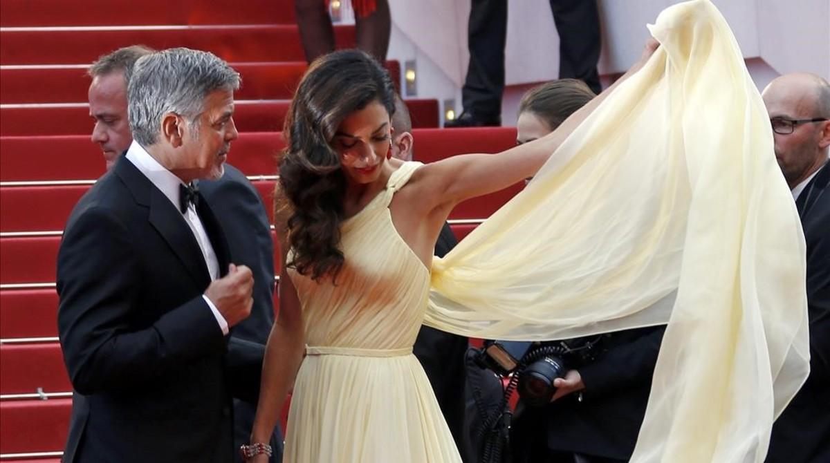 George Clooney y Amal, en el festival de Cannes.