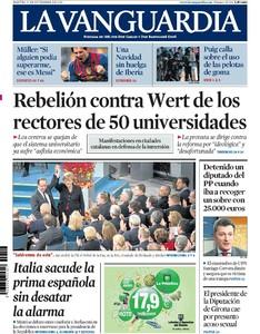 Las protestas contra la 'ley Wert' se asoman solo a las portadas catalanas