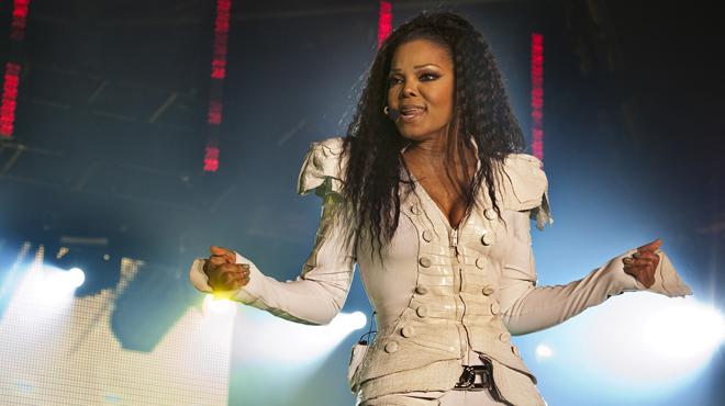 Primeras im�genes de Janet Jackson embarazada