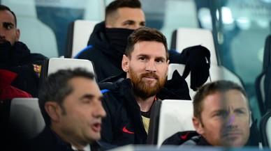 Messi, suplent contra el Juventus