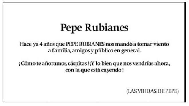 """Pepe Rubianes: """"Colau, guapa, enrotlla't"""""""
