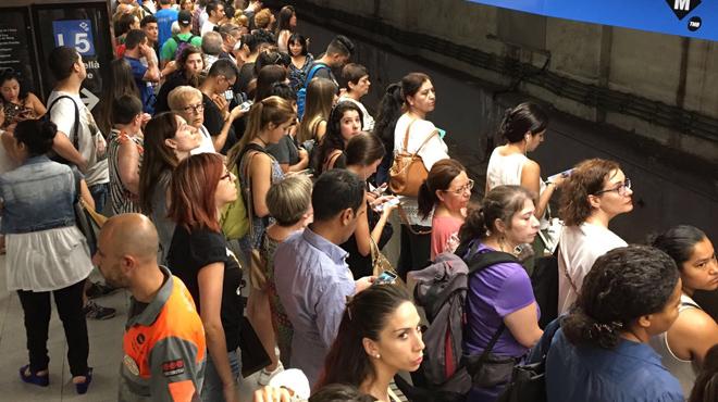 Undécima jornada de huelga en el metro de Barcelona