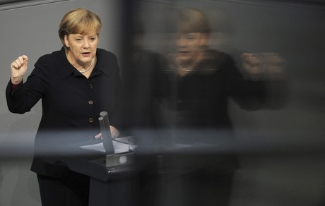 Angela Merkel, durante una comparecencia en el Parlamento alemn, el pasado diciembre en Berln. 