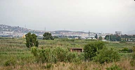 Terrenos de Viladecans donde se ha previsto ubicar Eurovegas.