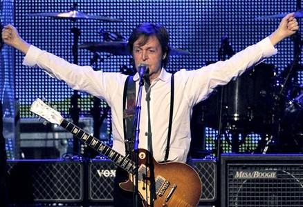 Paul McCartney en una actuación en Los Ángeles este año.