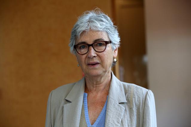 La presidenta dÒmnium Cultural, Muriel Casals.
