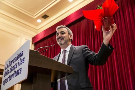 Conferència del candidat a les primàries del PSC, Jaume Collboni, el mes de febrer passat.