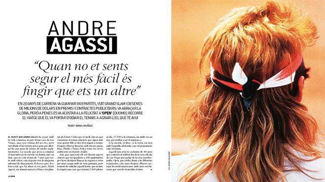 Andre Agassi en la portada del magazine Dominical
