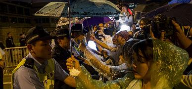 Manifestaci�n en Hong Kong, este jueves.