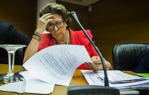 Rita Barberá, en comisión parlamentaria, el pasado 16 de julio en Valencia.