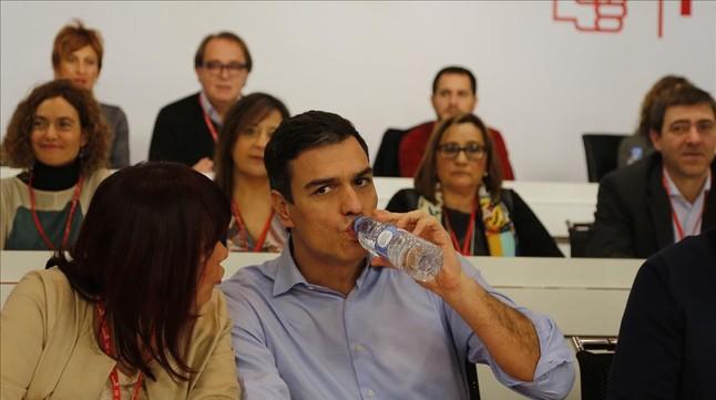 Pedro Sánchez, este lunes durante el comité federal del PSOE.
