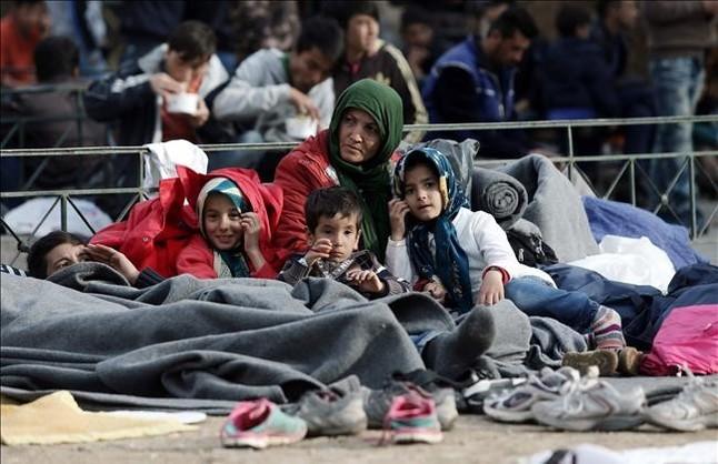 Refugiados en Atenas, Grecia