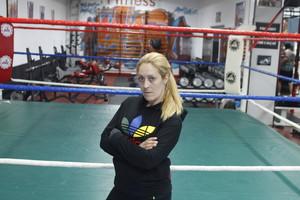 Sonia Miras, en el gimnasio de Barcelona donde entrena.