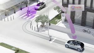 Sistema de información car to car de Volkswagen.